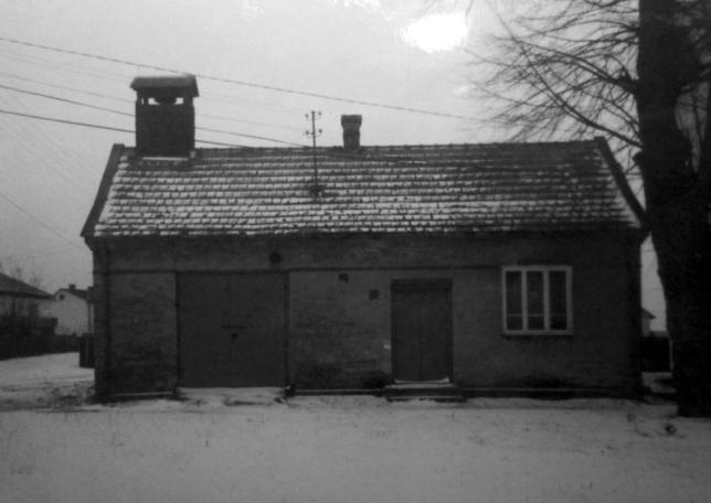 Stary budynek remizy.