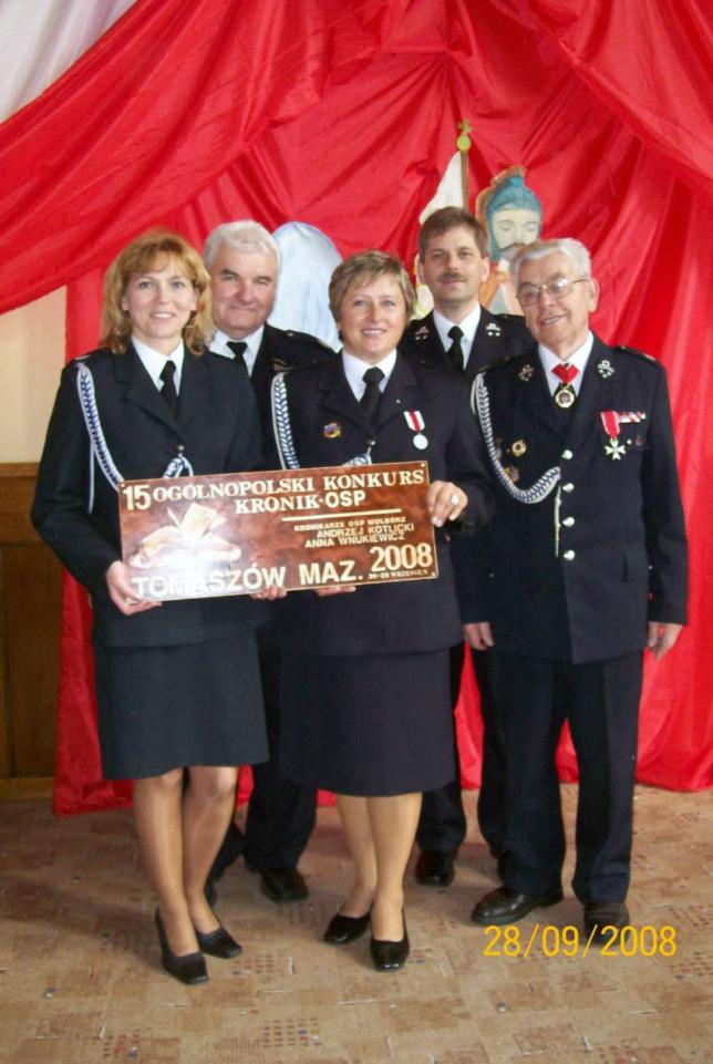 26-28.09.2008 r. Tomaszów Mazowiecki XV Ogólnopolski Konkurs Kronik OSP.